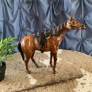 Detailed Leather Horse Figure